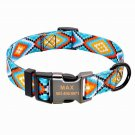 Raggystylzs Personalized Engraved Dog Collar Reflective/ adjustable