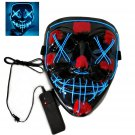 Led Purge Mask Light Up Mask Halloween Party Horror Mask Led Mask Scary Mask for Adults