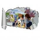Digital Monster Tri Anime 3D Wall Sticker Nostalgic Japanese Bedroom PVC Sticker