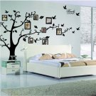 Photo Tree Wall Decal Family Photo Picture Frame Tree Wall Sticker Peel and Stick Removable