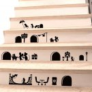 Mouse Hole Decals Cartoon Cute Mouse Holes Wall Decals Art Stickers Decor