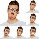 6 pcs Funny Masks Washable and Resuable Funny Anime Face Mask