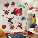 Spiderman Sticker Pack for Kids Room Wall Decor Ultimate Spider-man Party Decoration