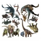 3D Watercolour Dinosaur Wall Stickers Peel and Stick Removable Wall Decals for Kids