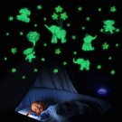 Glow in The Dark Wall Decals Fluorescent Stickers for Children Room Luminous Elephant
