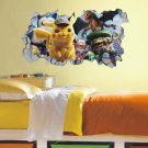 Detective Pikachu Wall Sticker Pokemon Favorite Character Peel and Stick Wall Decals