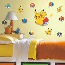 Japanese Cartoon Pikachu Stickers for Wall Pocket Cute Monsters Boys Room