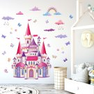 Colorful Castle Wall Decal Decorations for Girls Girls Bedroom Kids Nursery Living Room Murals