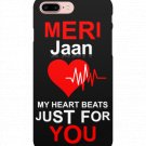 Heart Beat Meri Jaan Glossy Mobile Phone Snap Case For iPhone Smartphones