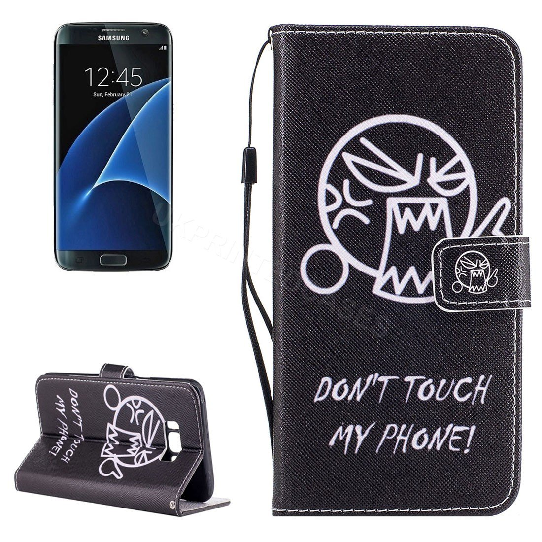 Angry Emoji Don�t Touch My Phone Wallet Mobile Phone For Samsung