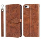 Tree Leaf Leather Wallet Mobile Phone Case For iPhone