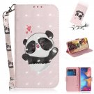 Pale Pink Panda Heart PU Leather Mobile Phone Wallet Case For Huawei