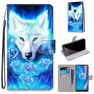 White Wolf PU Leather Flip Mobile Phone Wallet Case For Motorola
