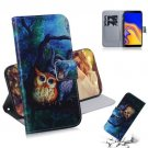 Night Owl Oil Painting Flip PU Leather Mobile Wallet Case For Samsung