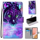 Tiger Drinking Water Flip PU Leather Mobile Wallet Case For LG