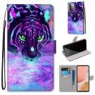 Tiger Drinking Water Flip PU Leather Mobile Wallet Case For Motorola