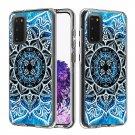 Blue Mandala TPU Hard Mobile Phone Case For Samsung