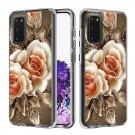 Flower Rose Floral TPU Hard Mobile Phone Case For Samsung