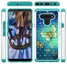 Gold Butterfly Hard Mobile Phone Case For Motorola