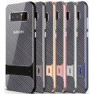 Carbon Fibre Striped Hard Phone Case For Samsung