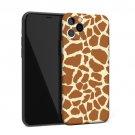 Animal Giraffe Print Black White Soft Mobile Phone Case
