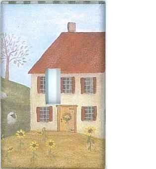 Country house custom single light switchplate cover switch plate