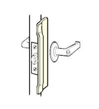 Don-Jo narrow latch guard outswing NLP-206-SL
