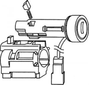 Chevolet corvette ignition lock assembly 703606