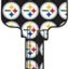NFL team logo Pittsburgh Steelers house key SC1