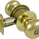 Schlage grade 2 knob lock with Medeco M3 high security cylinder. SCH-A53PD-20T-200S1-605-PLY