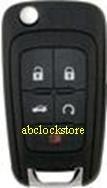 2010 Chevy 5 button remote key 5912545