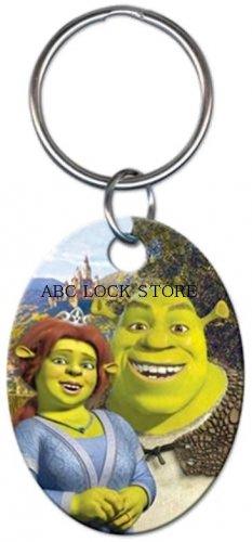 Shrek and fiona key ring