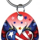 Tattoo Johnny USA Heart key chain KC-TJ2