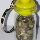 Bottle With Seashell Keychain(yellow cap)