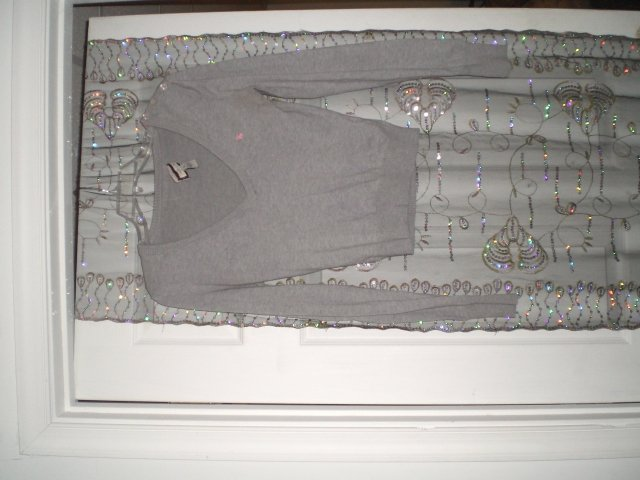 AE Grey and Pink sweater