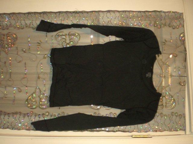 Black small Cotton long sleeve shirt