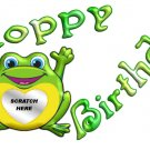 12 Frog Hoppy Birthday Favors Scratch Off Game Tickets PERSONALIZED