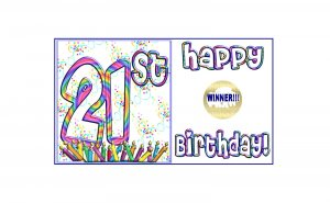 12 - 21st  Birthday Favors Scratch Off Game Tickets PERSONALIZED