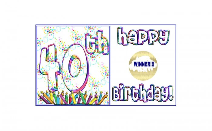 12 - 40th Birthday Favors Scratch Off Game Tickets PERSONALIZED