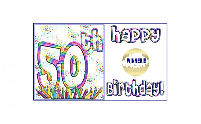 12 - 50th Birthday Favors Scratch Off Game Tickets PERSONALIZED