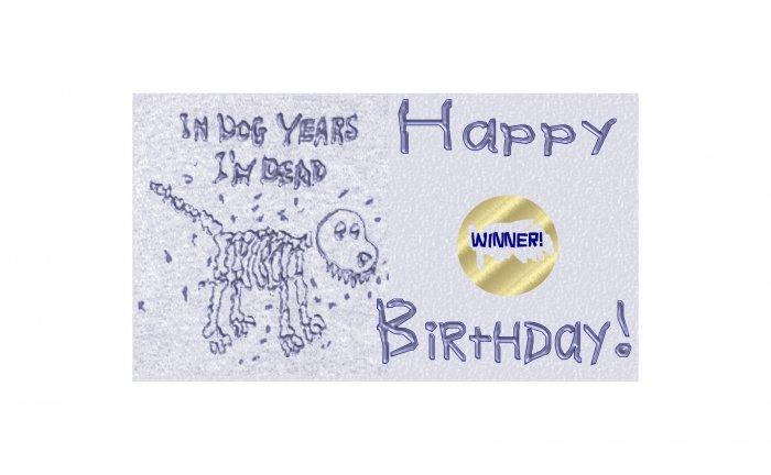 12 IN DOG YEARS, I'M DEAD Birthday Favors Scratch Off Game Tickets PERSONALIZED