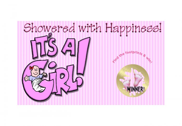 12 It's a GIRL Baby Shower Party Favors Scratch Off Game Tickets PERSONALIZED