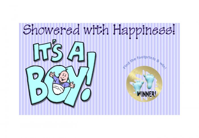12 IT'S A BOY Baby Shower Party Favors Scratch Off Game Tickets PERSONALIZED
