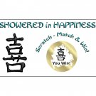 12 Chinese Happiness Bridal Shower or Engagement Party Favors Scratch Off Game Tickets PERSONALIZED