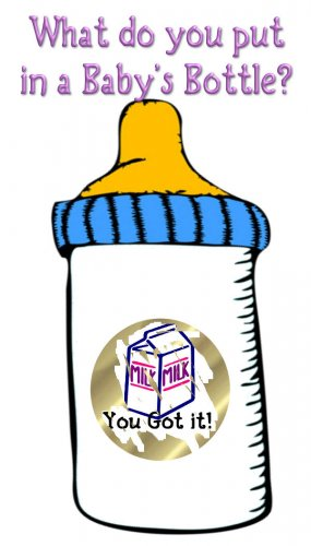12 Baby Shower Baby Bottle Party Favors Scratch Off Game Tickets PERSONALIZED
