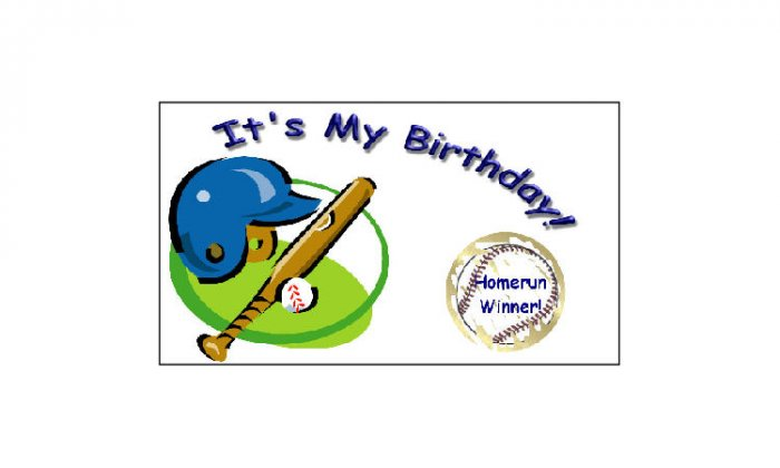 12 Birthday Baseball Favors Scratch Off Game Tickets Favors PERSONALIZED