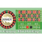 12 Roulette Wheel Casino Birthday Favors Scratch Off Game Tickets PERSONALIZED