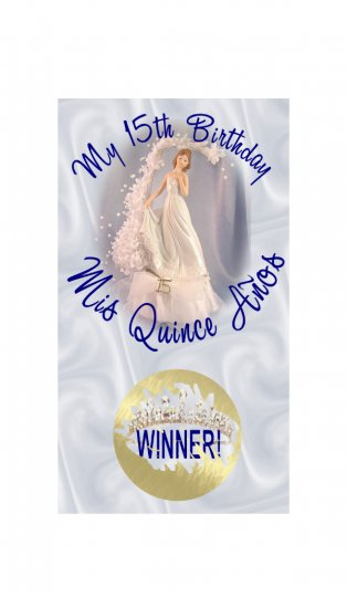 12 QUINCEANERA 15th Birthday Favors Scratch Off Game Tickets PERSONALIZED