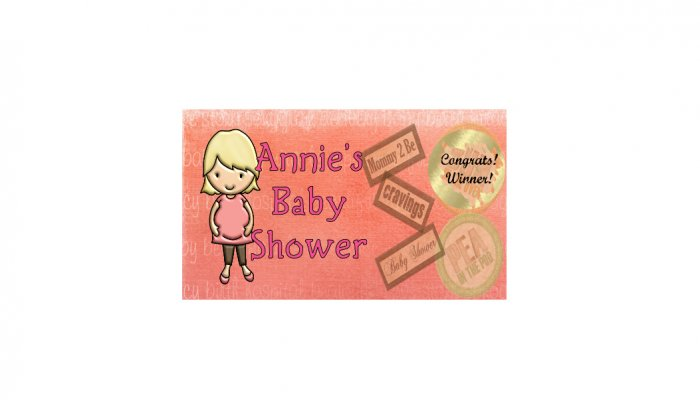12 Pink Baby Girl Shower Party Favors Scratch Off Game Tickets PERSONALIZED