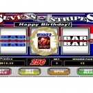 12 Slot Machine Casino Birthday Favors Scratch Off Game Tickets PERSONALIZED